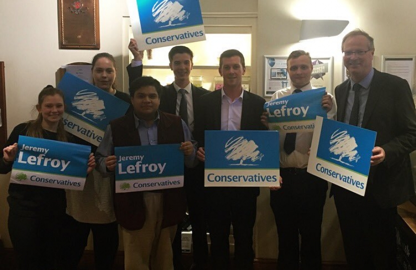 Stafford YC members supporting Jeremy Lefroy MP