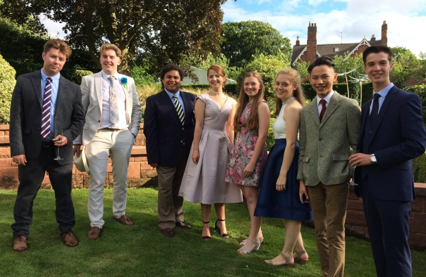 Stafford YC members at a Conservative Party fundraising event at Mitton Manor