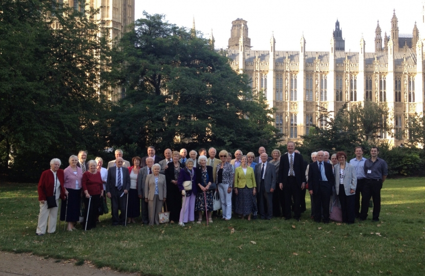 The Association and Jeremy outside Parliament
